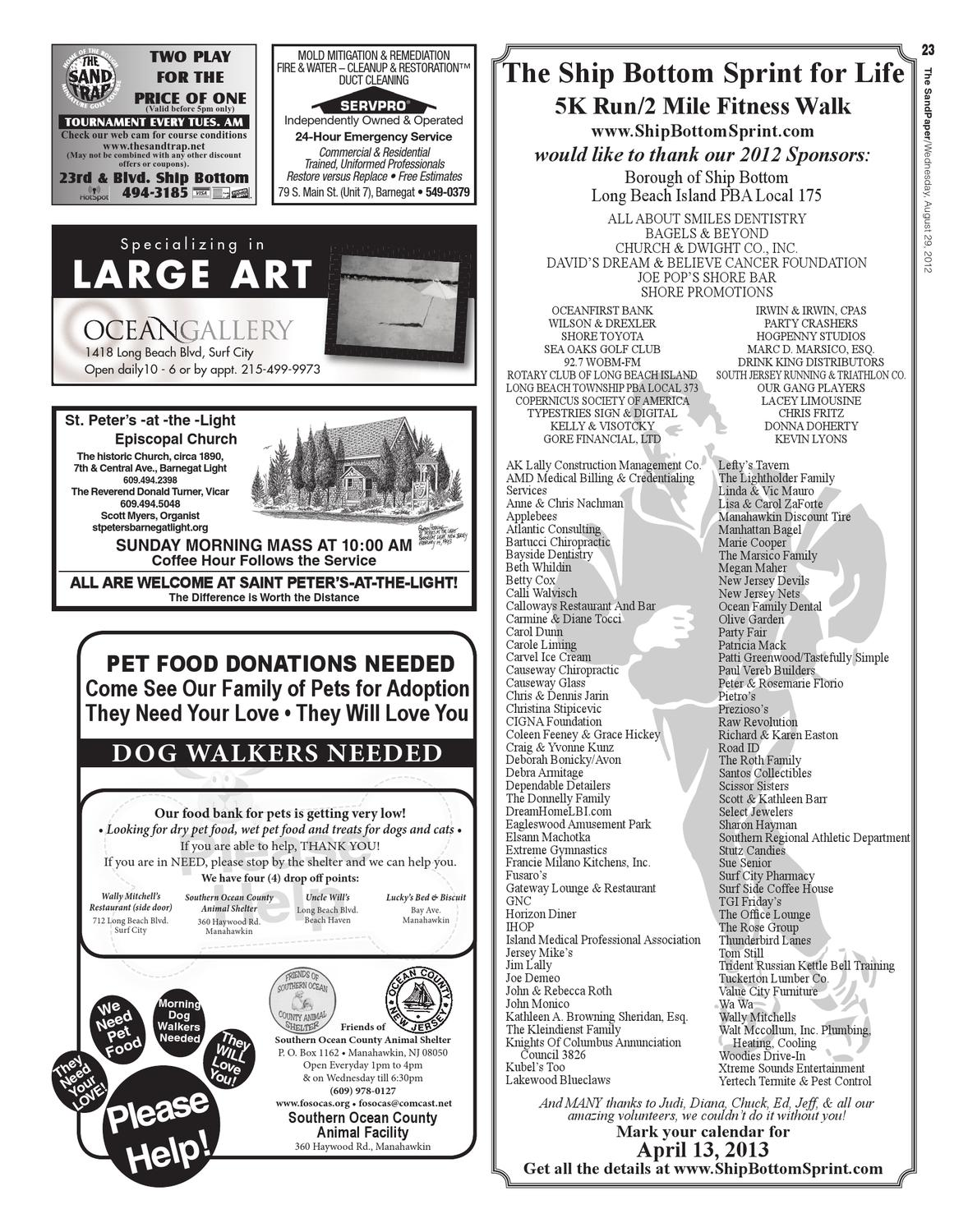 The SandPaper, August 29, 2012 Vol  38 No  34 by The