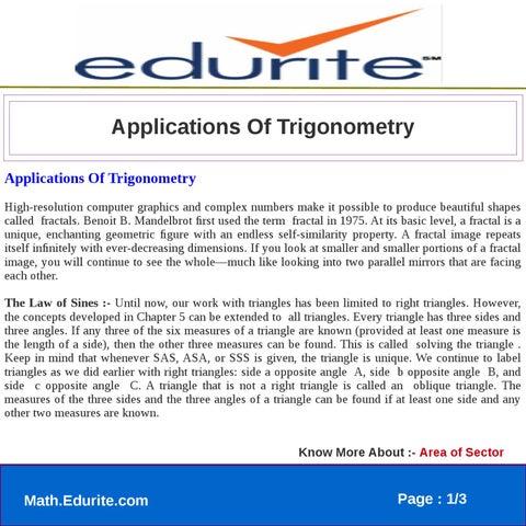 Applications Of Trigonometry by nisha bhatt - issuu