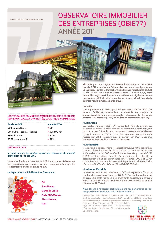 les tendances du march immobilier en seine et marne pour l ann e 2011 by seine et marne. Black Bedroom Furniture Sets. Home Design Ideas
