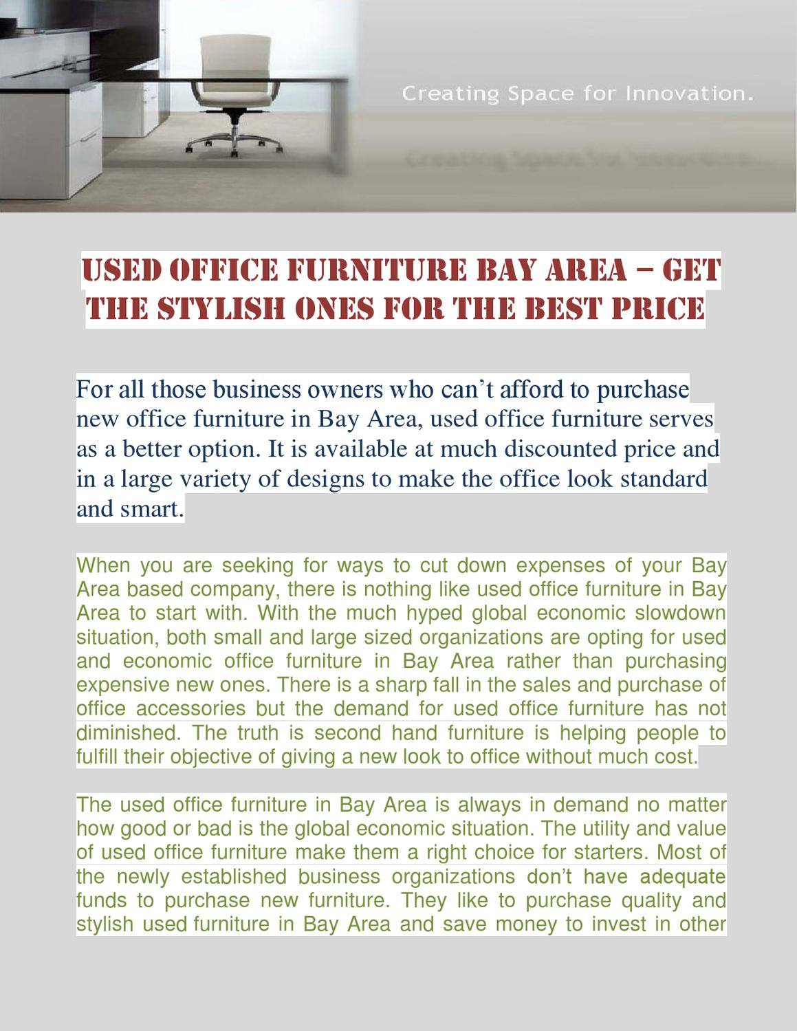 Used Office Furniture Bay Area U2013 Get The Stylish Ones For The Best Price By  Robin Neel   Issuu