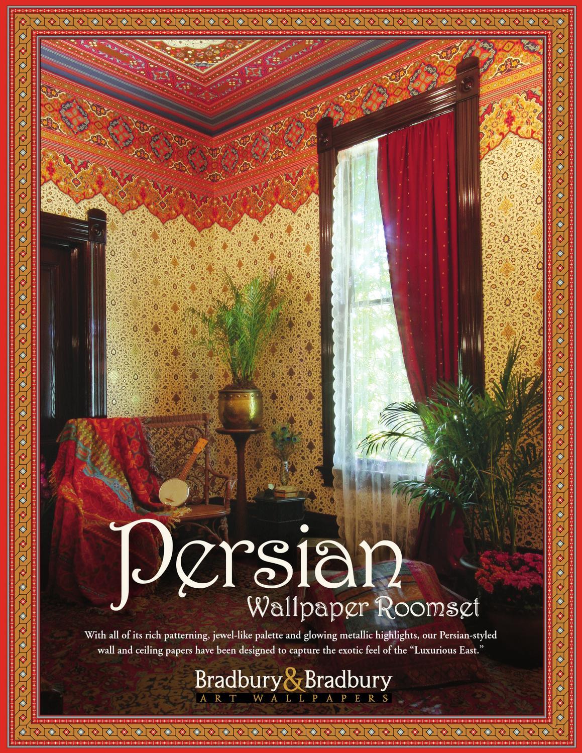 persian wallpaper collection by bradbury bradbury art wallpapers issuu. Black Bedroom Furniture Sets. Home Design Ideas