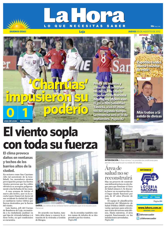 Diario La Hora Loja 30 De Agosto 2012 By Diario La Hora Ecuador  # Hazan Muebles Gavilan