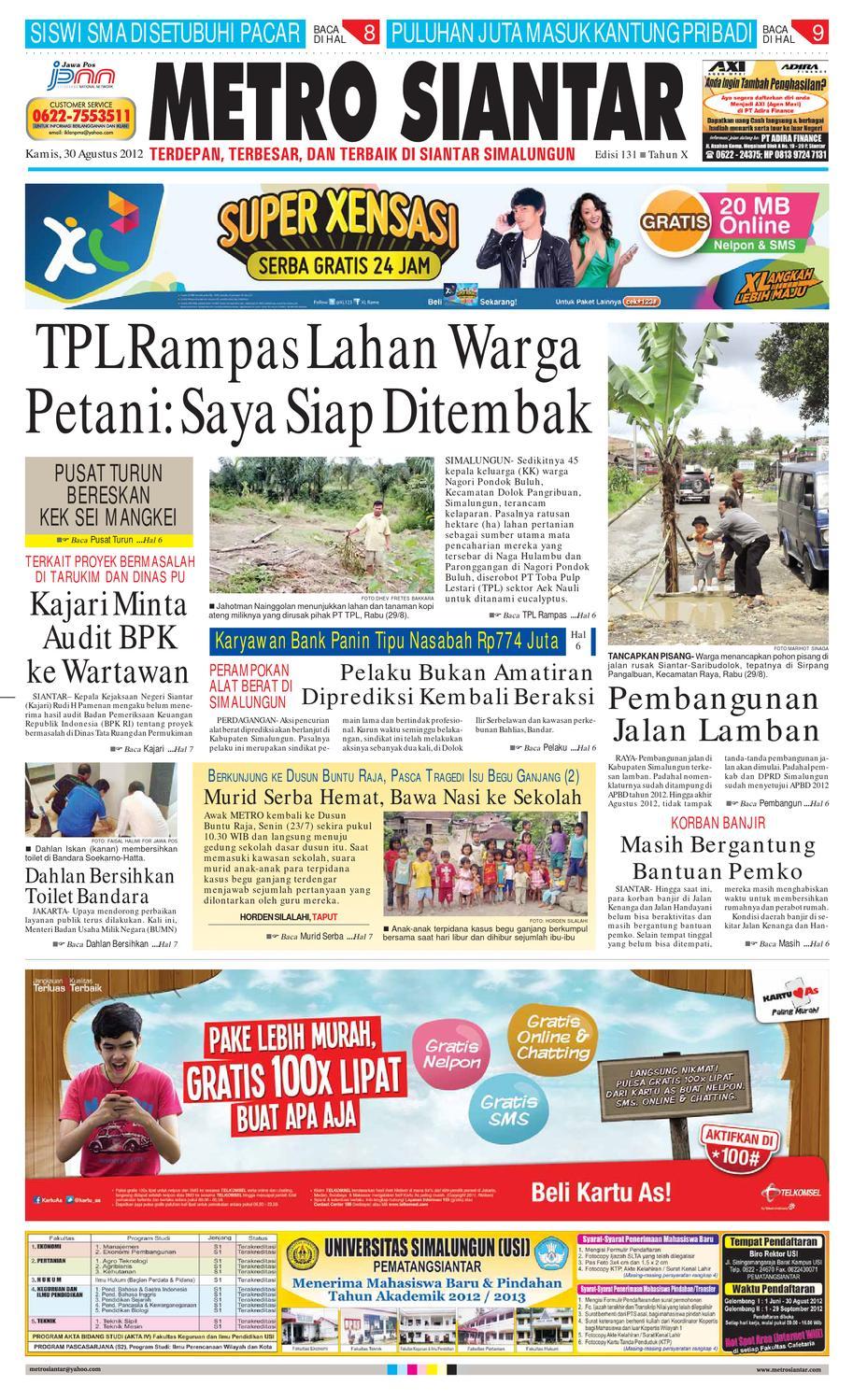 Epaper Metro Siantar By Issuu Bolven Sekola