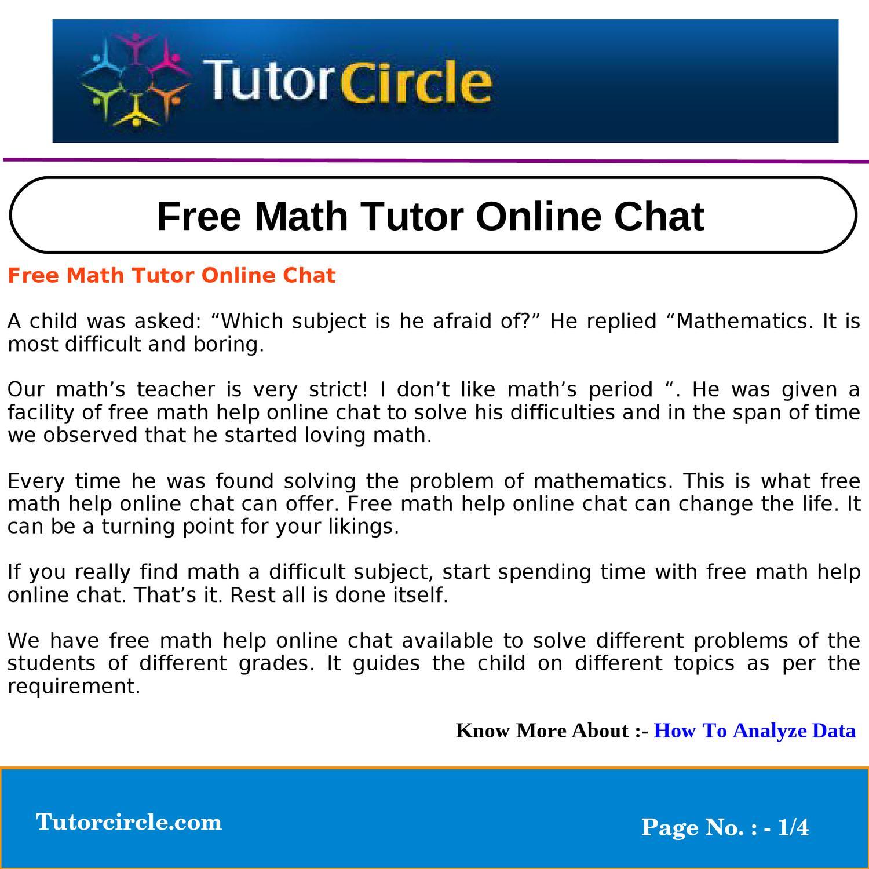 live chat math help