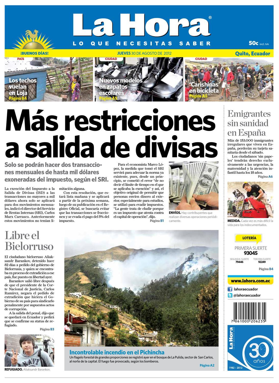 Edici N Impresa Quito Del 30 De Agosto De 2012 By Diario La Hora  # Hazan Muebles Gavilan