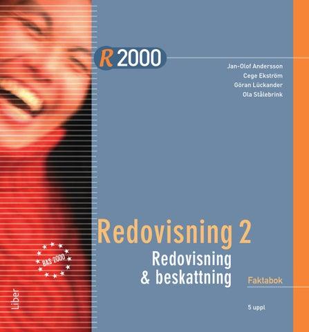 R2000 Redovisning 2 redovisning och beskattning Faktabok