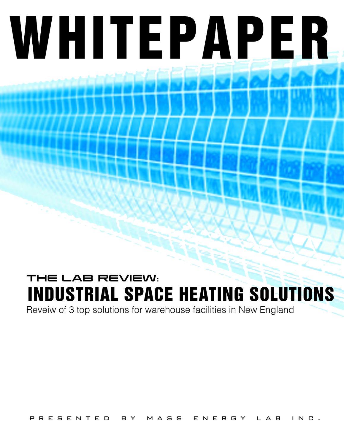 Industrial Heating System Whitepaper by Charles Newborn - issuu