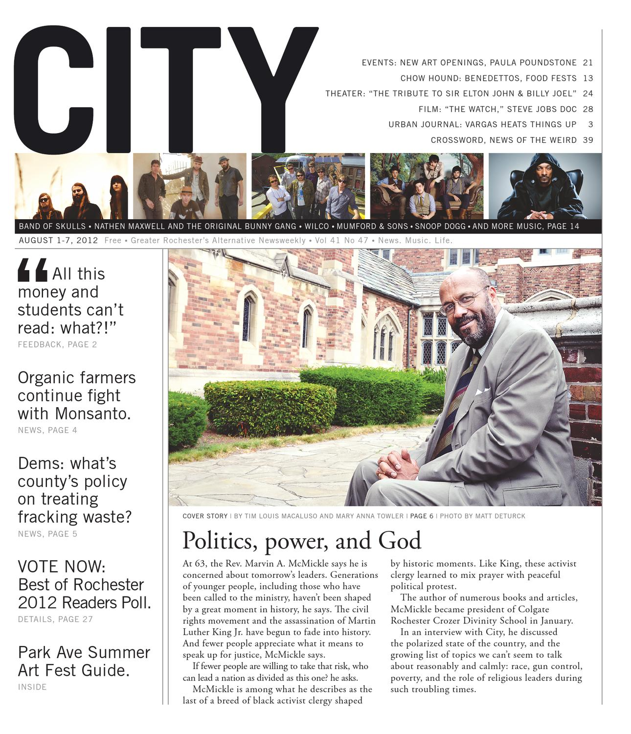 August 1 7 2012 City Newspaper By Rochester City