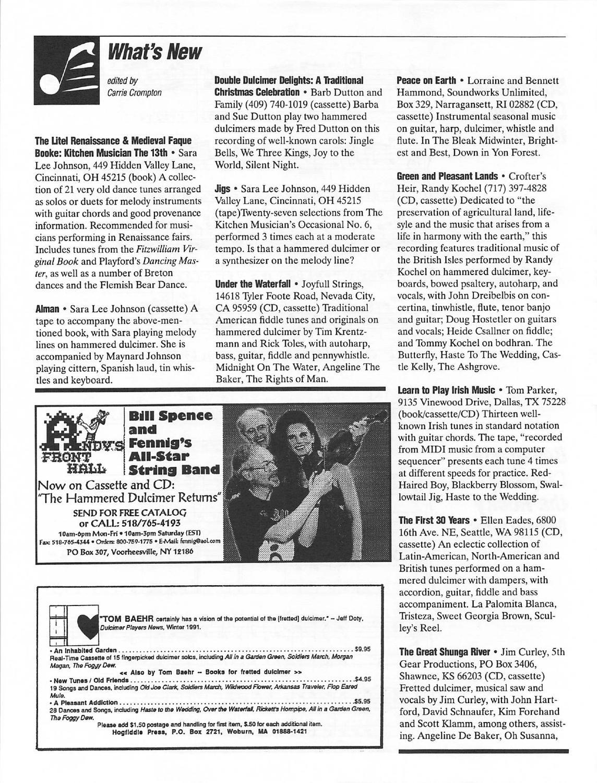 1995 04 Dulcimer Players News Vol 21 No 4 By Dulcimer Players