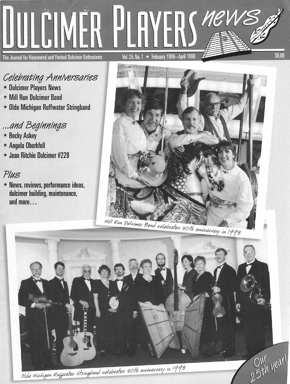 1999 01 dulcimer players news vol 25 no 1 by dulcimer players