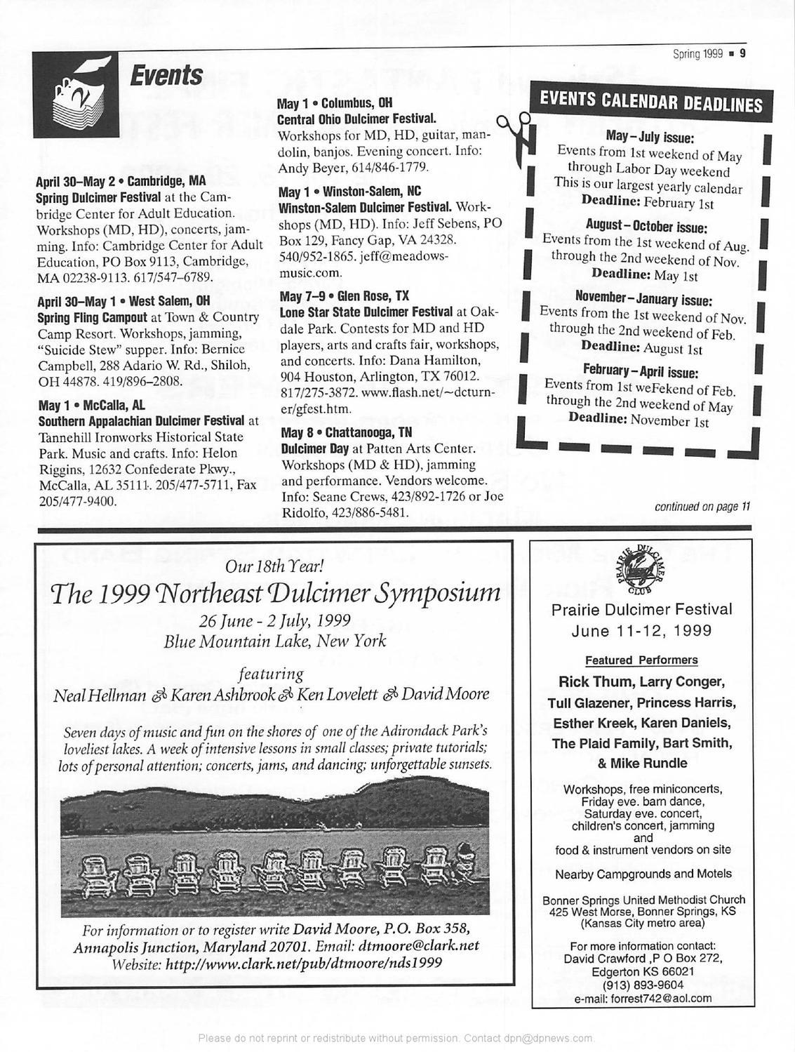1999 02 Dulcimer Players News Vol 25 No 2 By Dulcimer Players