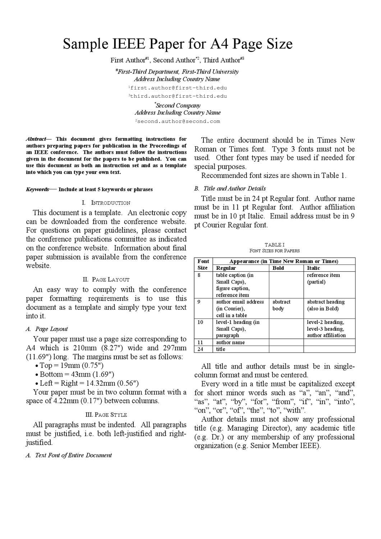 IEEE format A21 Paper by ECE Department, Kalasalingam University Regarding Ieee Journal Template Word