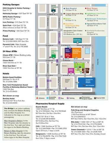 Hss Neighborhood Map By Hospital For Special Surgery Issuu