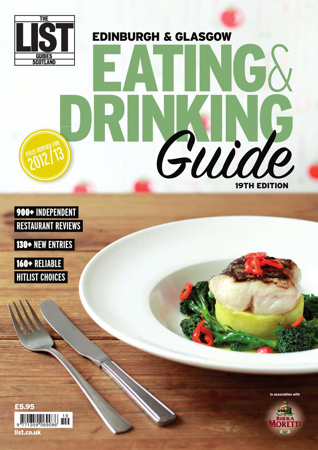 Eating And Drinking Guide 2012 By The List Ltd Issuu