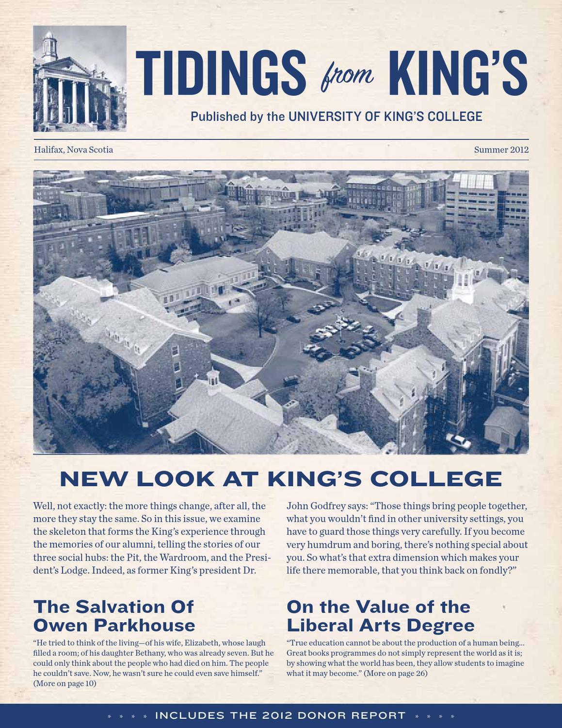 Tidings Summer 2012 By University Of King S College Issuu