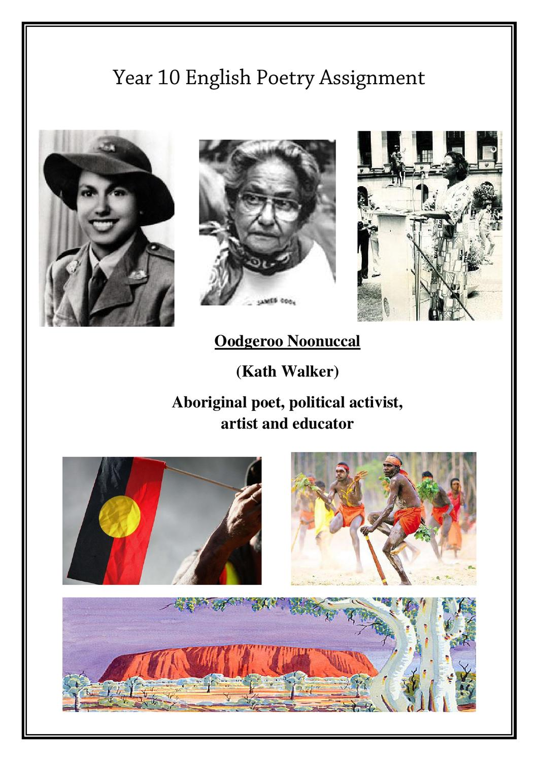 no more boomerang kath walker essay No more boomerang compares the differences between the two unlikely cultures of the aborigines and the documents similar to english assignment english essay.