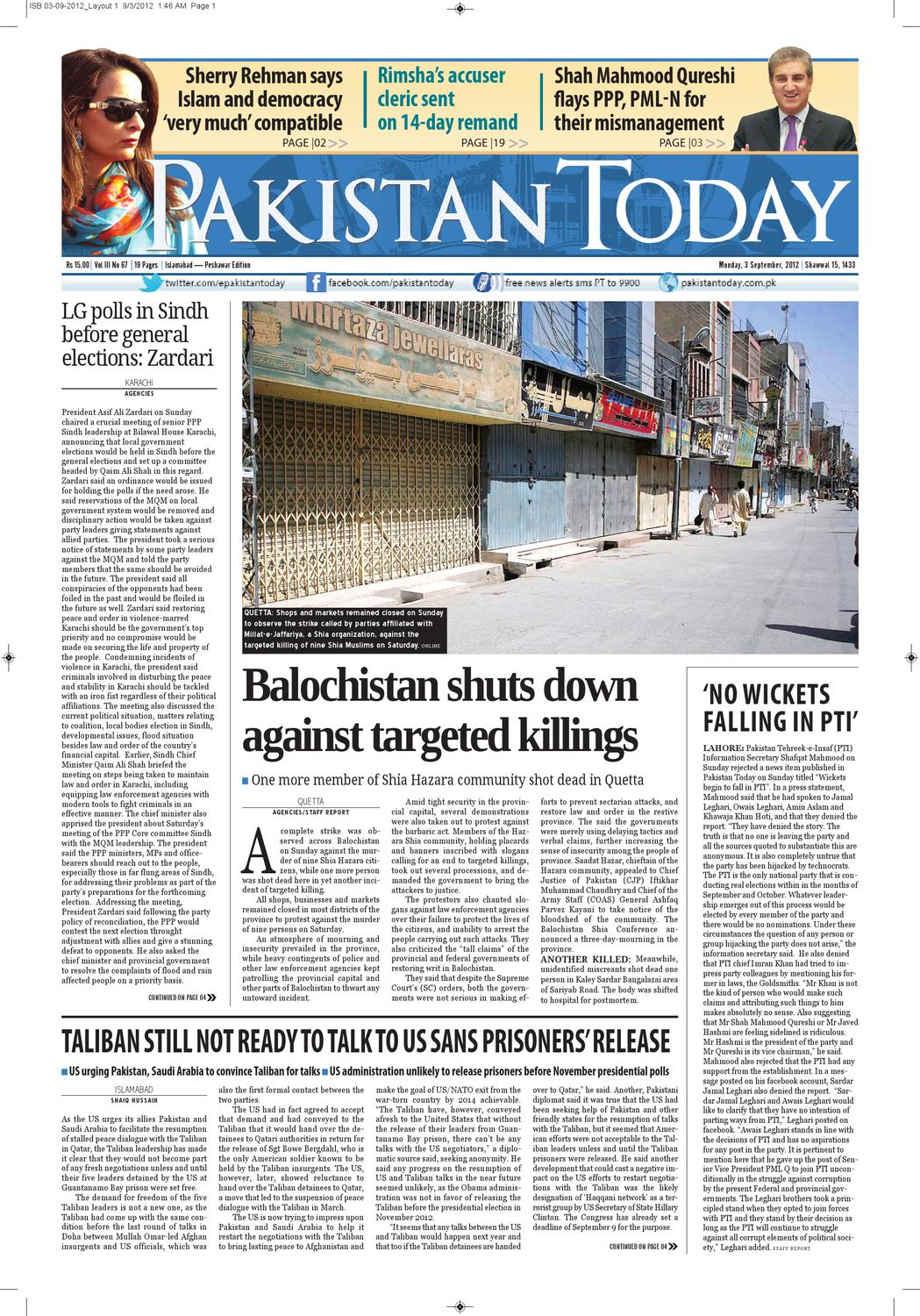e-paper pakistantoday 03rd september, 2012 by Pakistan Today