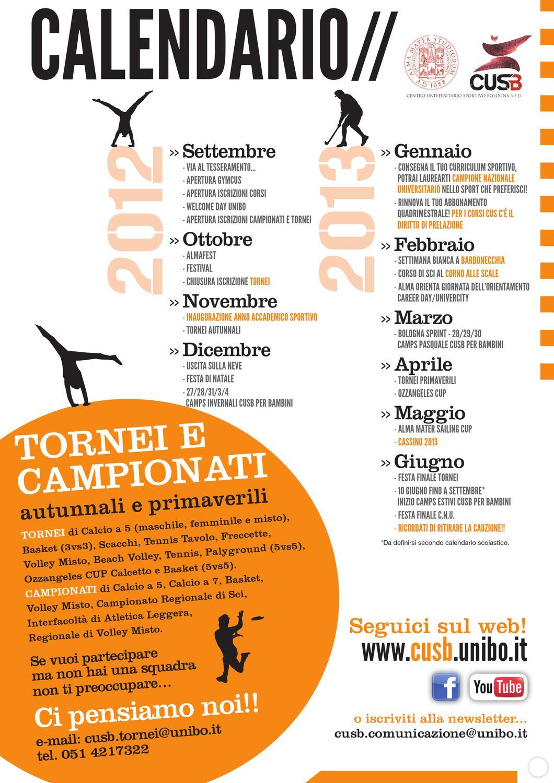 Calendario Unibo.Tabloid Cus Bologna 2012 2013 By Luigi Greco Issuu