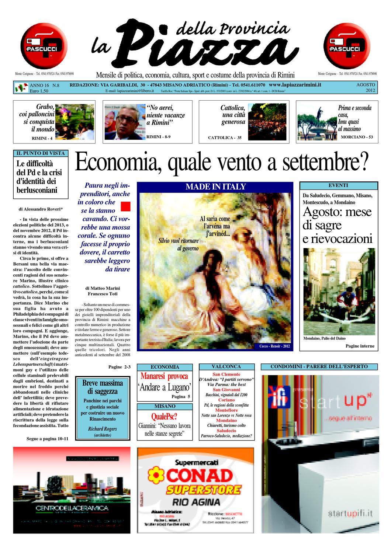 ca616b5251 Agosto 2012 - La Piazza delle province di Rimini e Pesaro by La Piazza  della Provincia - issuu