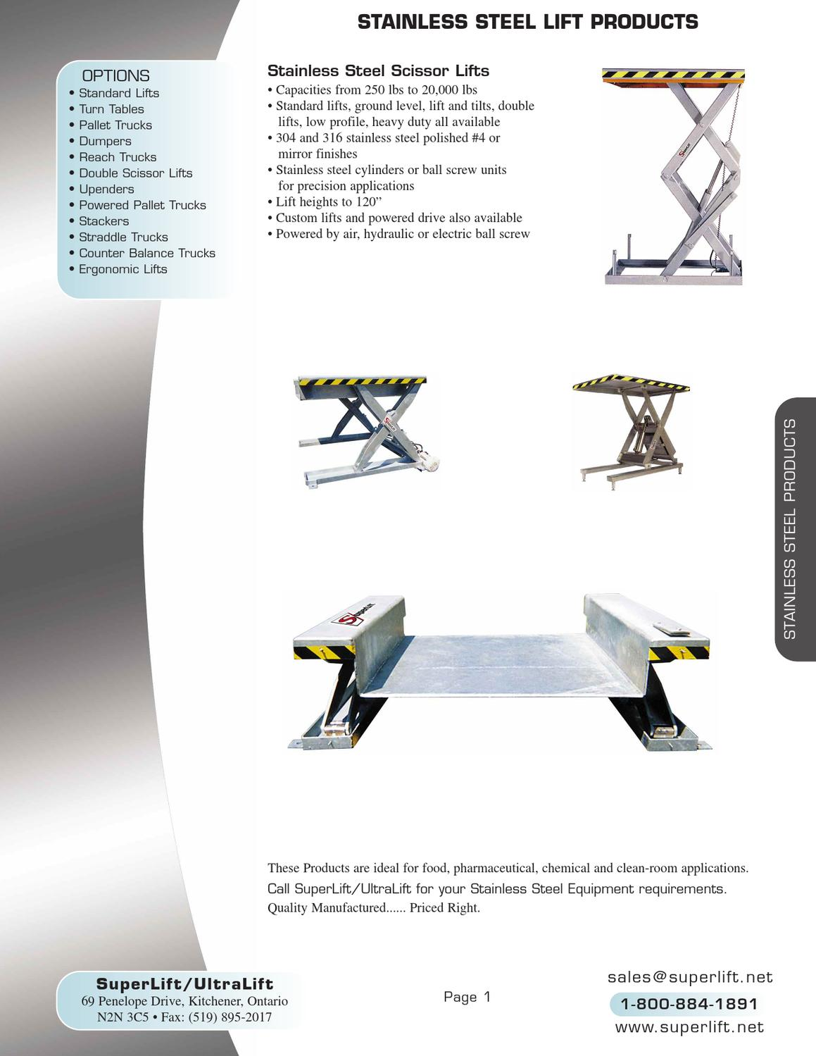 Superlift Catalogue By Gerard Erwin Issuu