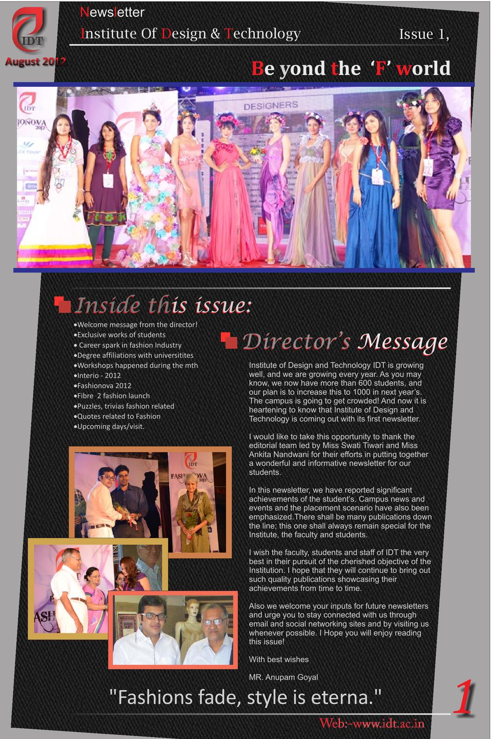 Idt Institute Of Fashion Interior Design And Technology In Surat Gujarat By Fashion Ova Issuu