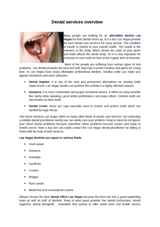 Affordable Dentist Las Vegas by hilde ofor - issuu