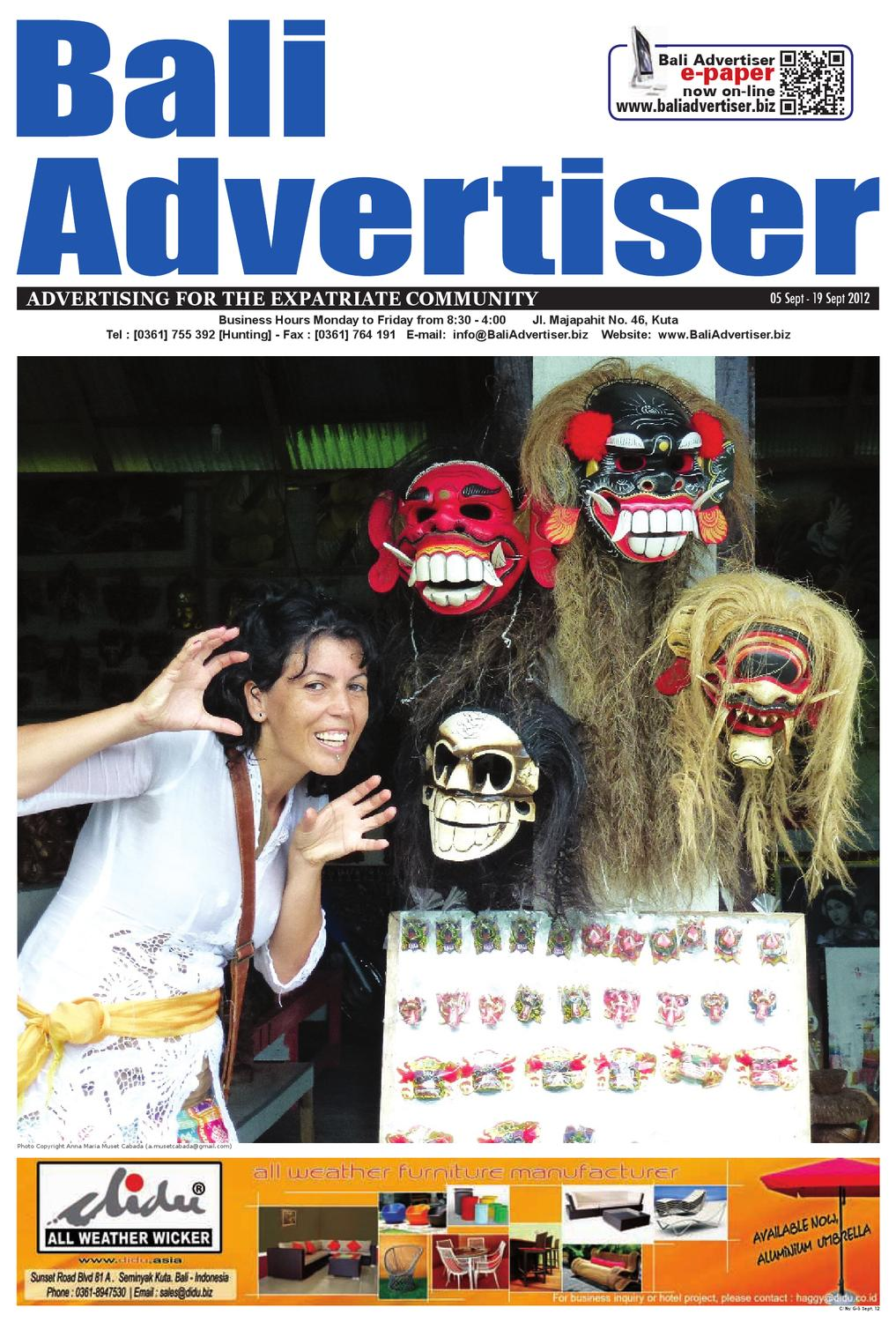 Ba 05 September 2012 By Bali Advertiser Issuu Gajah Duduk Fame Merah