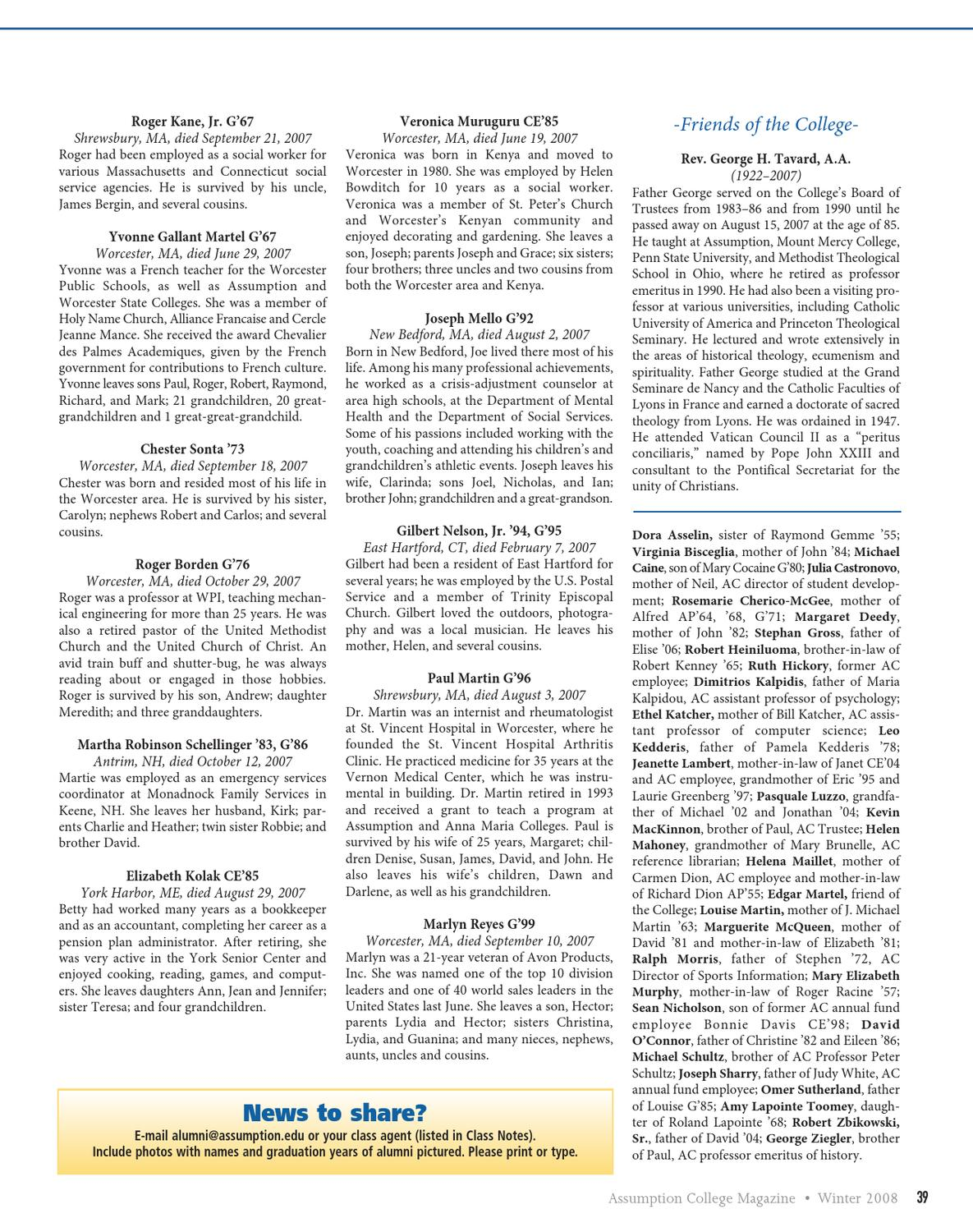 ACMag_Winter2008 by Assumption College - issuu