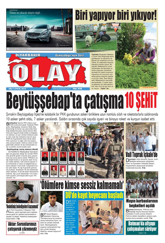 04 09 2012 Gazete Sayfalari By Diyarbakir Olaygazetesi Issuu