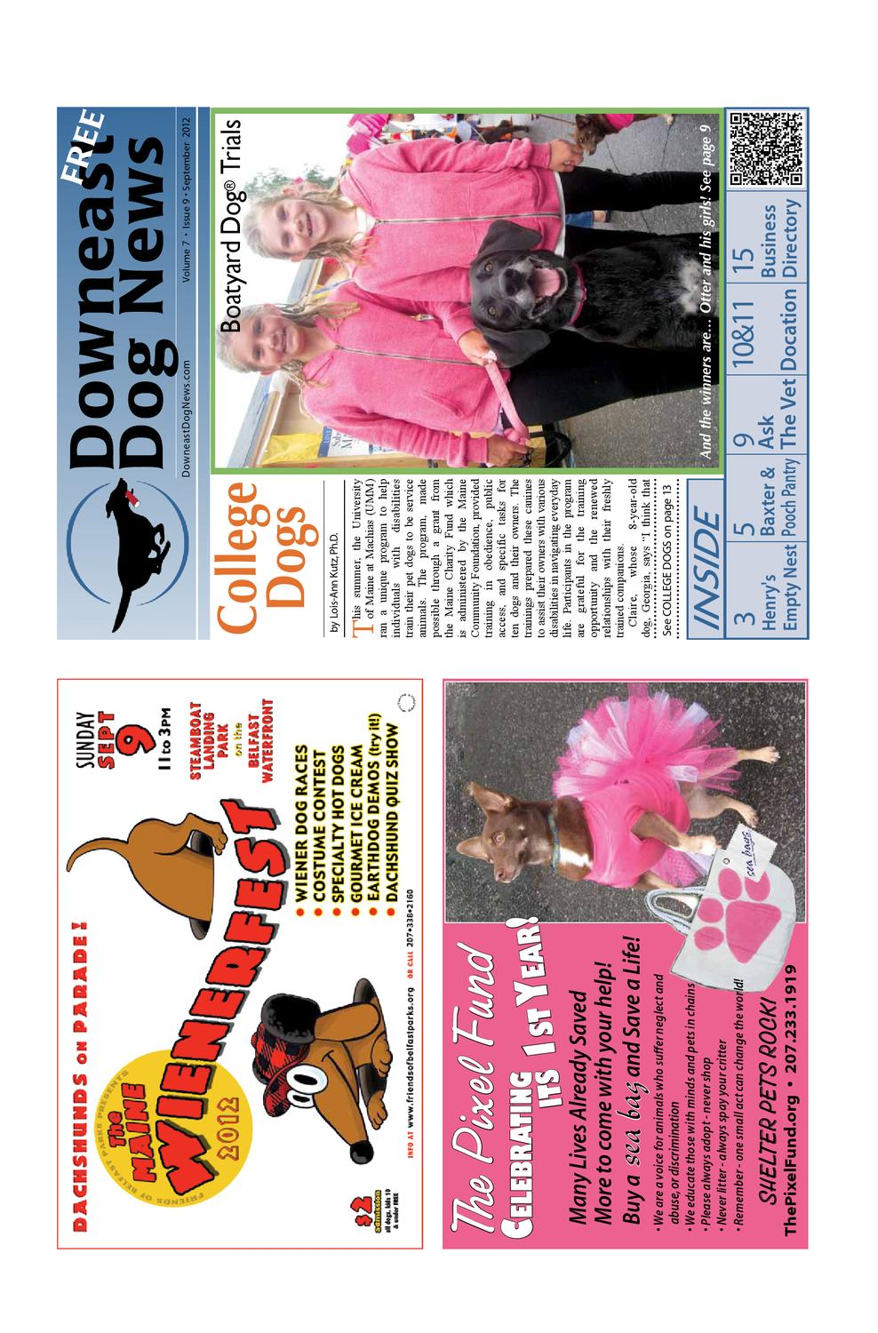 September issue of downeast dog news by downeast dog news issuu geenschuldenfo Choice Image