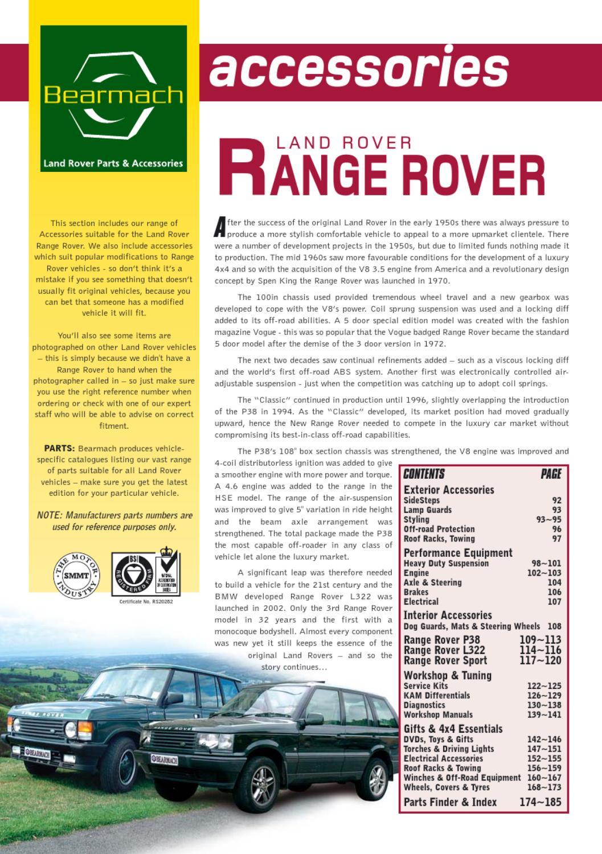 LAND ROVER RANGE ROVER 87-91 FRONT BUMPER SPOILER CLASSIC MXC6828 NEW
