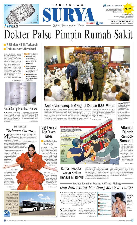 E Paper Surya 5 September 2012 By Harian Issuu Produk Ukm Bumn Batik Tulis Babon Angrem