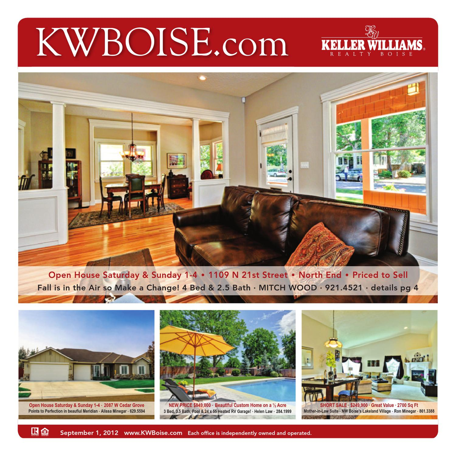 Keller Williams Realty Real Estate - 09/01/12 by Idaho ... on house in valencia ca, house plans ranch style home, house plans for a family of 5, house in law suite addition plans, house plans with mother daughter suites, house plans for disabled, house floor plans, house exterior, house plans with detached in law suite, house with basement garage, house plans with courtyard in middle, house above garage, house plans under 600 feet, house plans with apartment suites, house plans with 2 master suites, homes with in-law suites, house with detached garage breezeway, house with center courtyard, house plans with kitchen in back of house,