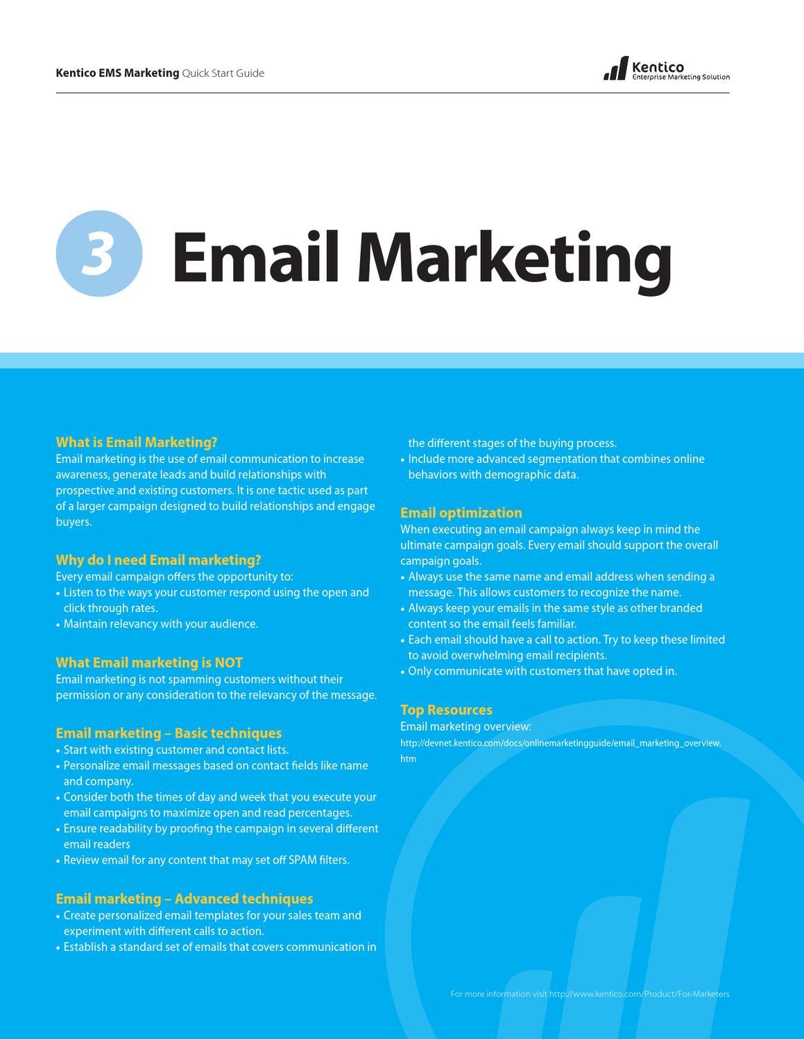 Kentico Ems Quick Start Guides Email Marketing By Thomas Robbins