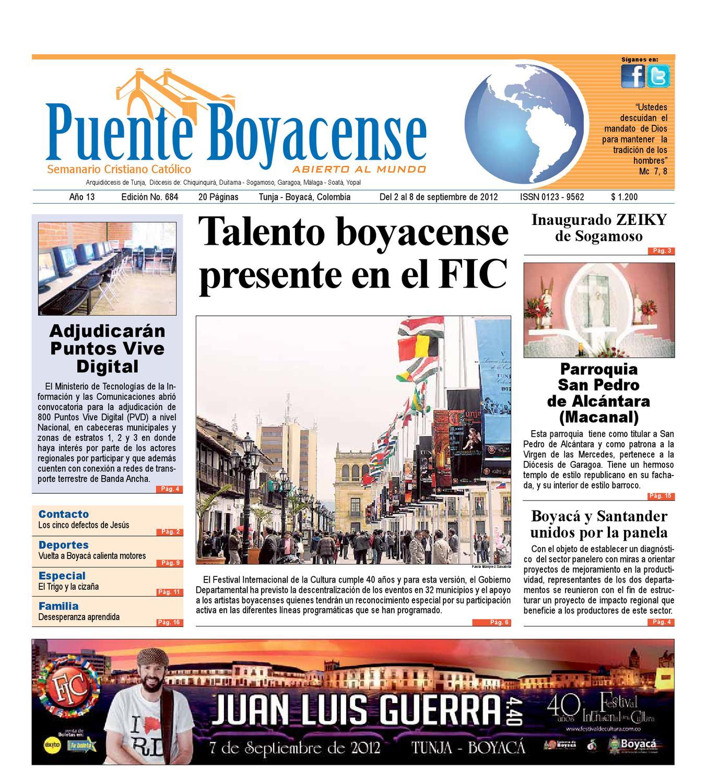 Puente Boyacense edicion 684 by OMEC COMUNICACIONES - issuu