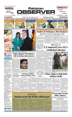 E-Paper September 05, 2012 by Pakistan Observer - issuu
