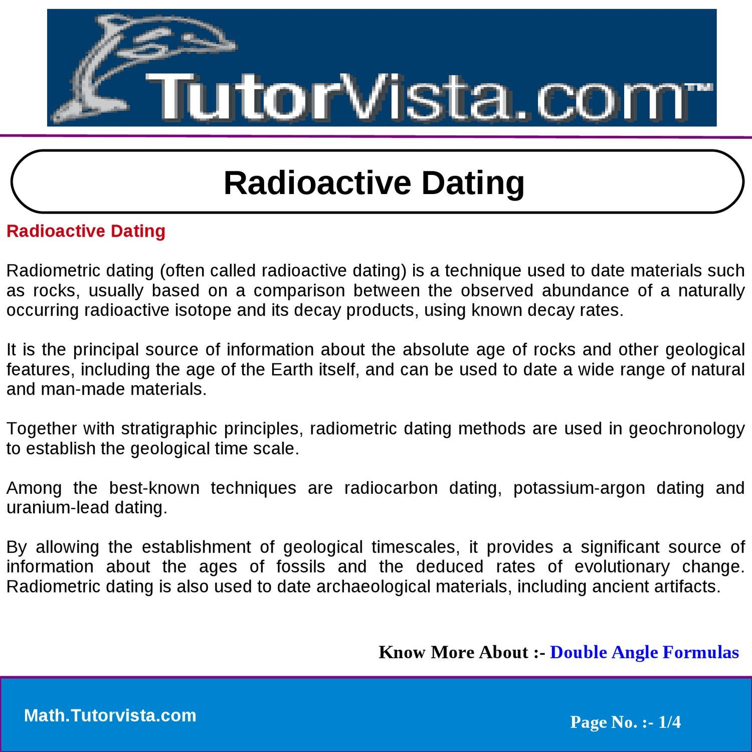 Is dating what radioisotope How do