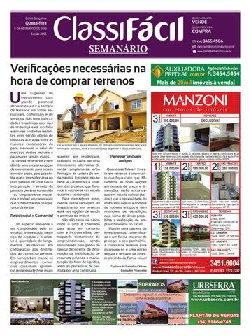 305527d7bf5a6 05 09 2012 - Classificados - Jornal Semanário by Jornal Semanário ...