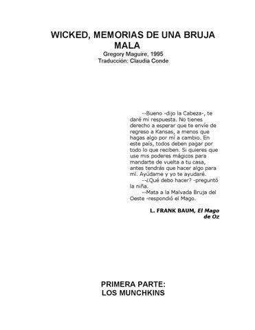 4184f58c Wicked - Memorias de una bruja mala by Héctor Ezequiel Repetto - issuu