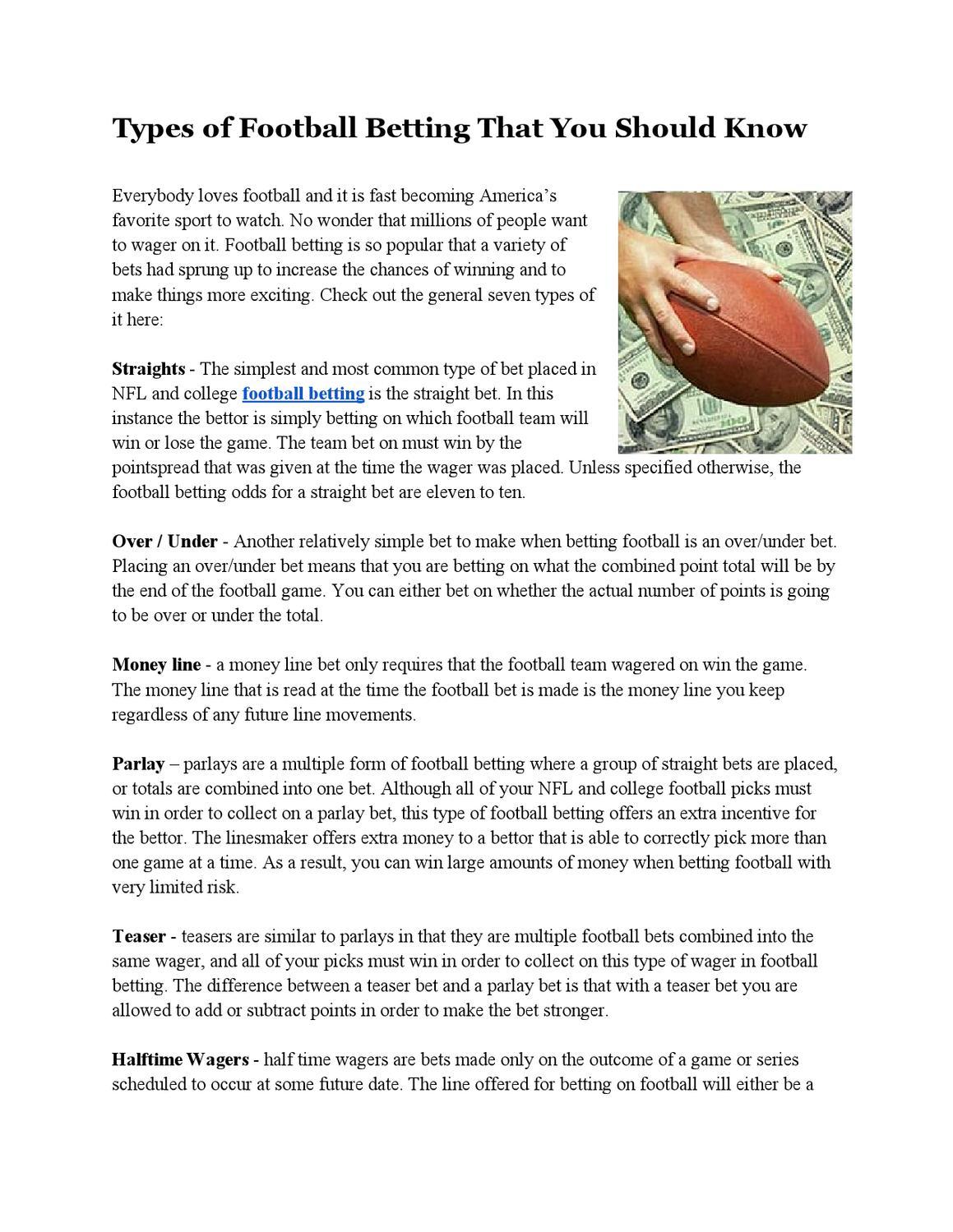 Betting the money line football