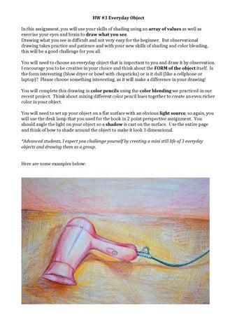 Hw Everyday Object By Aimee Zvinakis Issuu