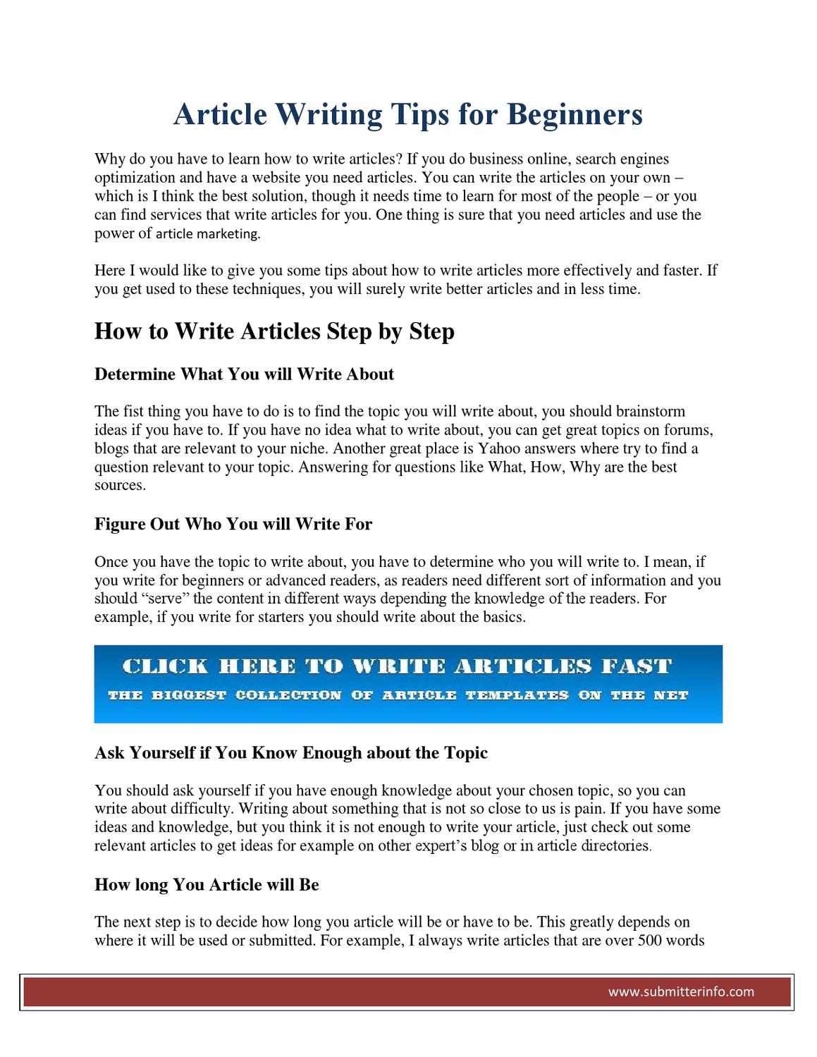 article topics to write about