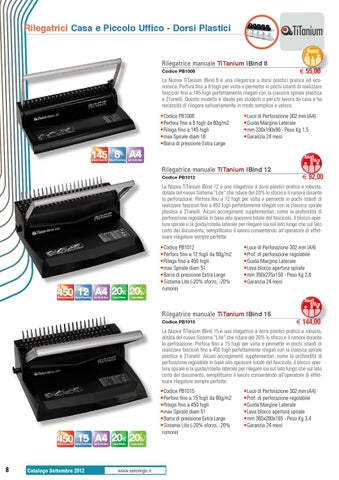 TITANIUM Rilegatrice Manuale iBind 15