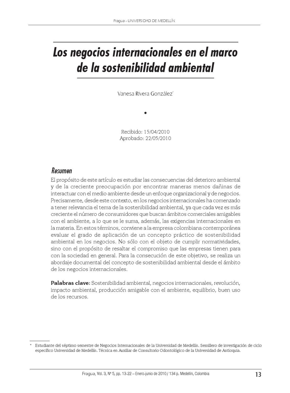 Los negocios internacionales en el marco de la sostenibilidad ...