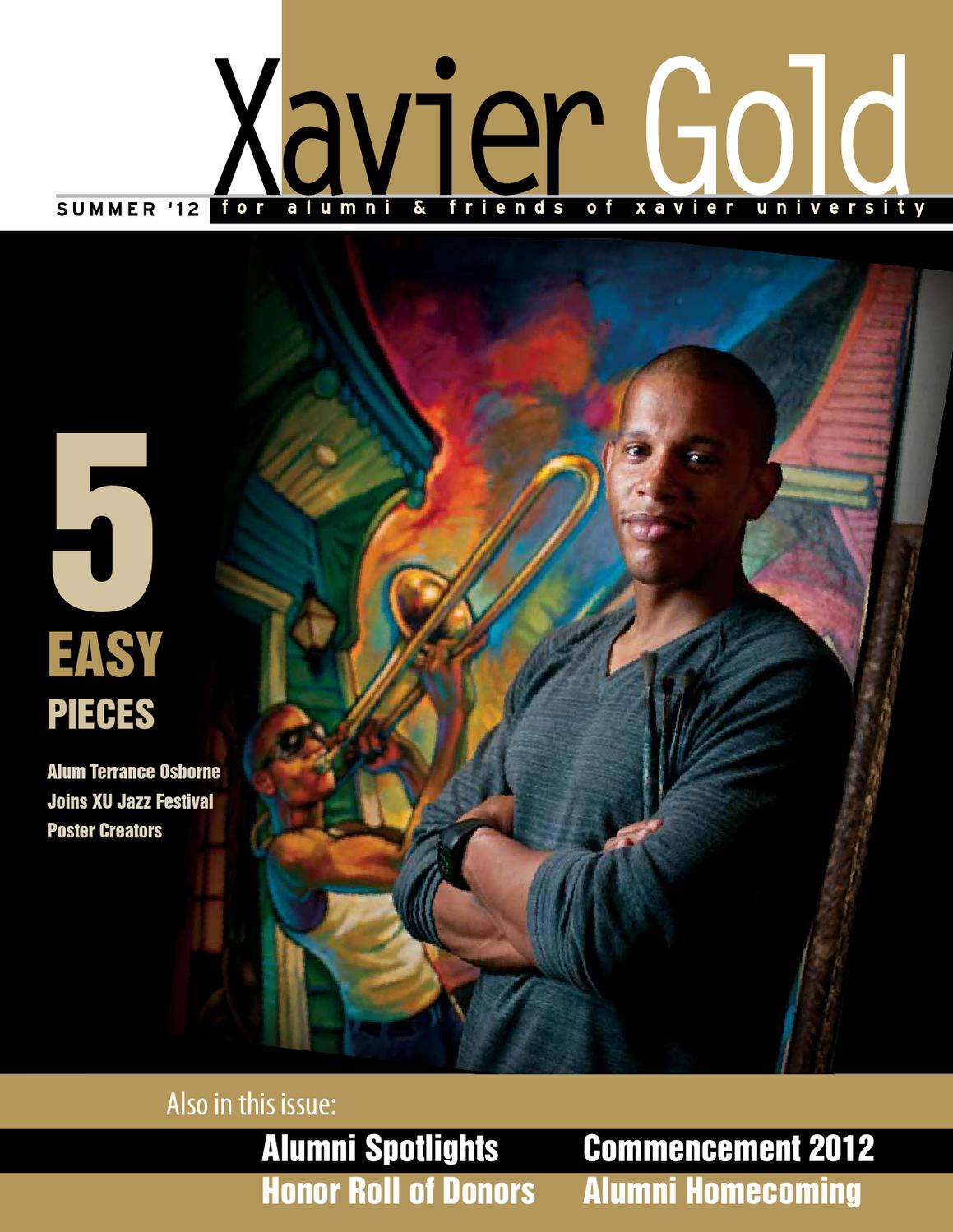 Xavier gold summer 2012 by brian bowers issuu fandeluxe Gallery