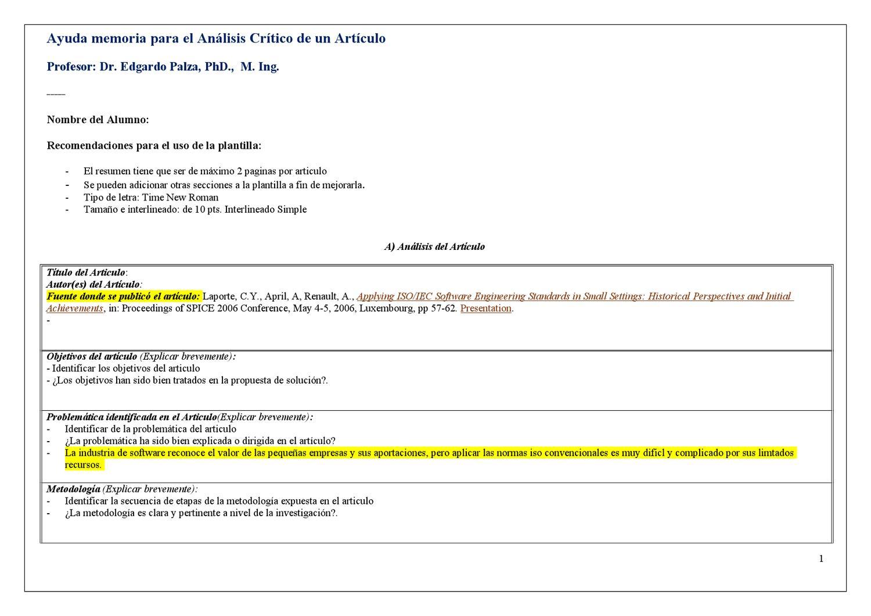 Plantilla.Analisis.Articulo by Caleb Matos Rodriguez - issuu