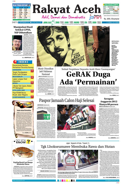 Edisi Rakyat Aceh Metro 8 September By Rakyataceh Metroaceh Kopibubuk Robusta Toko Rezeki Akumandiri Malang Issuu