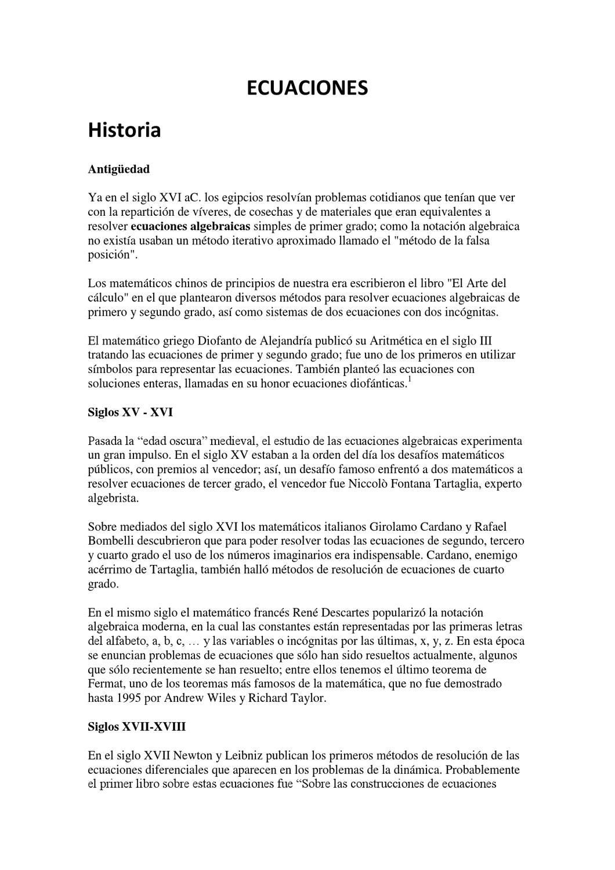 ECUACIONES by Lucia Sotero Díaz - issuu