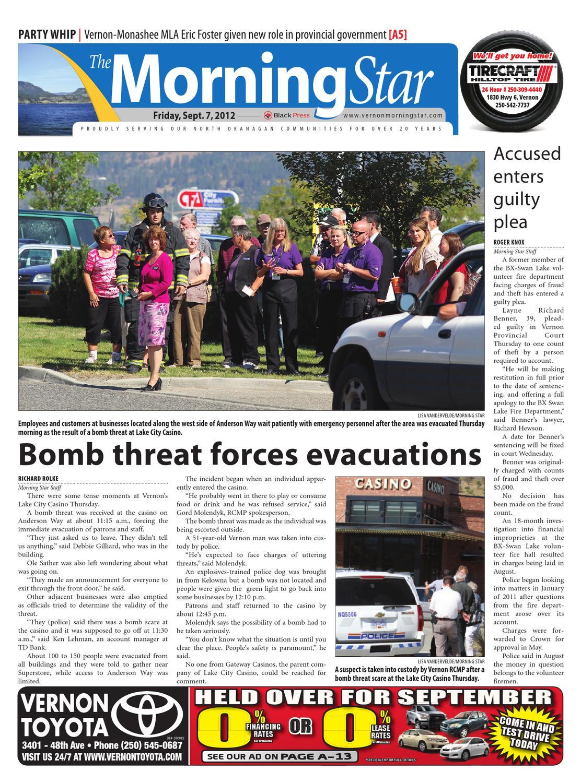 Vernon Morning Star, September 07, 2012 by Black Press Media ... on