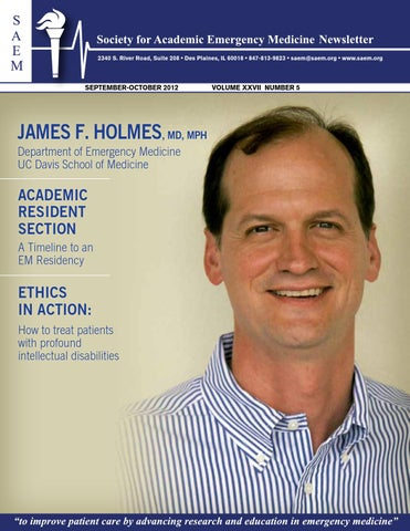 Sept Oct 2012 Final 0 By Society For Academic Emergency Medicine Issuu